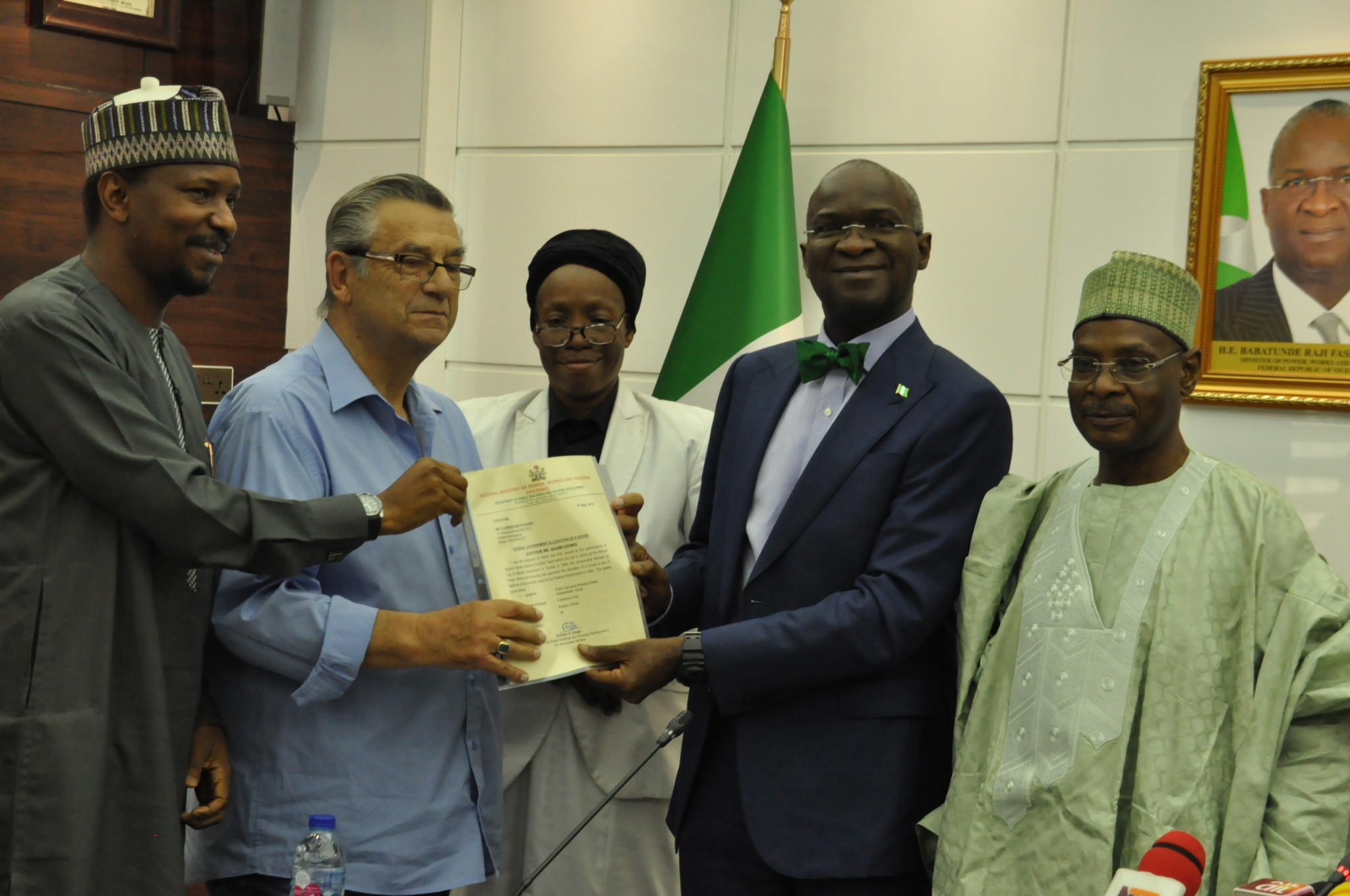 FG fulfils pledge of house to former Super Eagles' coach, Clemens Westerhorf